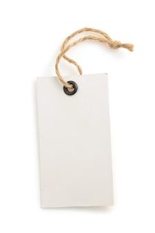 Etichetta di cartellino del prezzo isolato su sfondo bianco