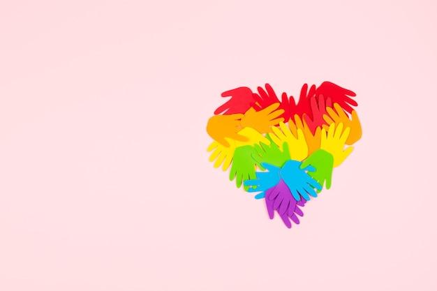 Mese dell'orgoglio, concetto di simbolo di bandiera lgbt