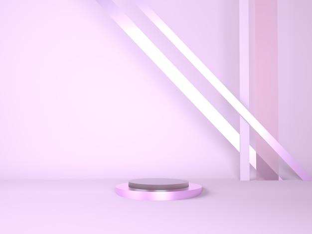 Podio del prodotto su sfondo pastello 3d