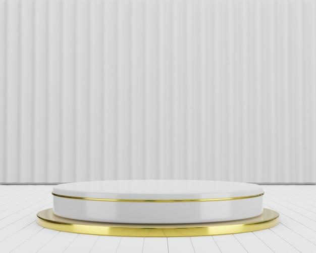 Concetto geometrico del fondo del podio della fase del prodotto rendering 3d dell'illustrazione