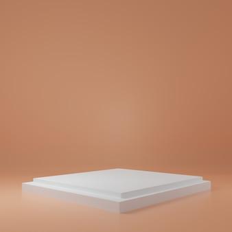 Supporto del prodotto nella stanza della crema scena dello studio per il design minimale del prodottorendering 3d