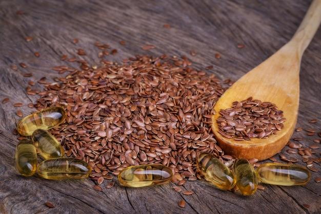 I prodotti sono ricchi di omega. lino e olio di pesce.