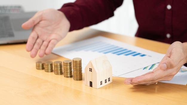 Investimento immobiliare e concetto finanziario mutuo casa