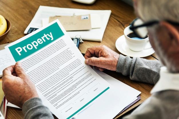 Concetto di asset del modulo di rilascio della proprietà