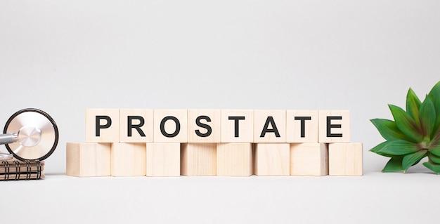 Parola di prostata fatta con il concetto di blocchi di legno