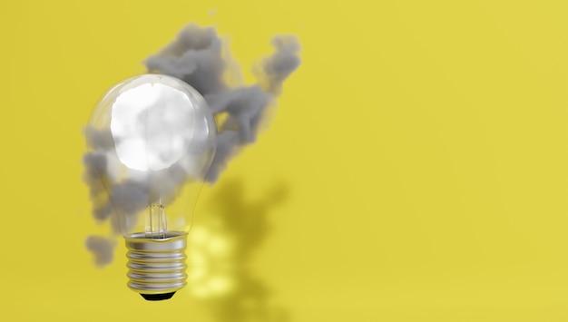 Proteggi la proprietà intellettuale con il punto di convergenza della lampadina di sicurezza biometrica con luce incandescente