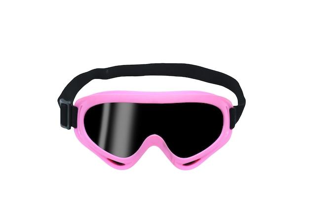 Occhiali protettivi o occhiali di sicurezza isolati su priorità bassa bianca