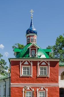 Monastero di pskov-pechersky, russia