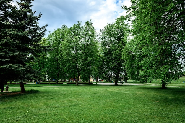 Paesaggio del parco cittadino pubblico