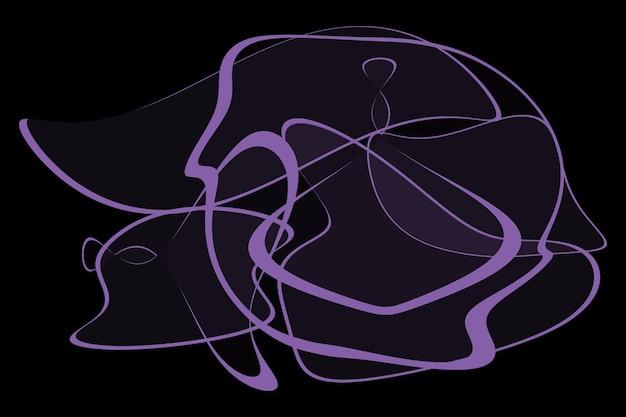Linee astratte viola su sfondo nero