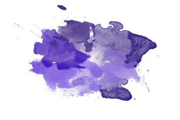 Pennello per pittura ad acquerello astratto viola, struttura della macchia. sfondo. copia spazio.