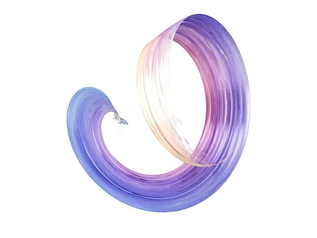 Tratto di pennello viola ondulato