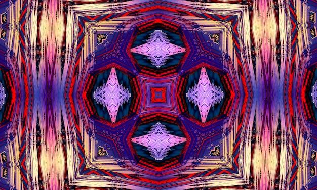 Fondo del caleidoscopio della croce viola. bella trama caleidoscopio multicolore. design unico del caleidoscopio, forma unica, trama meravigliosa, motivo astratto viola.
