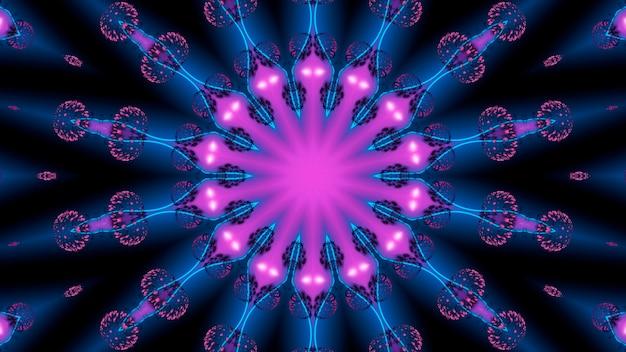 Frattale viola delle linee blu con la seduta spiritica di sottofondo