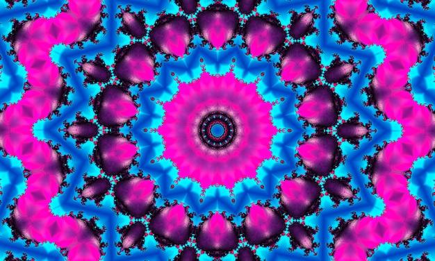 Caleidoscopio viola a forma di occhio, disegno astratto surreale, forte, intenso, dinamico e potente, per striscioni, poster, volantini, carta da parati, inviti, sfondi, pubblicità