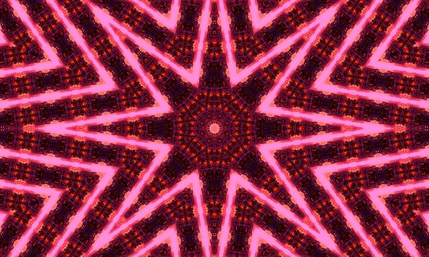Design caleidoscopio floreale viola e magenta. modello di caledoscopio per la produzione di imballaggi, scrapbooking, confezioni regalo, libri, libretti, album