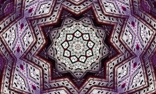 Viola ripetizione fiore ornato mandala pattern di sfondo - abstract simmetrico ornamento grafico per la carta da parati.