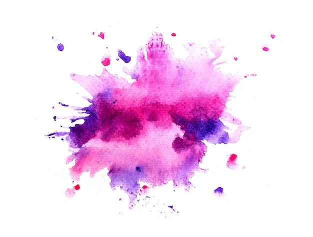 Sfondo acquerello macchia viola.