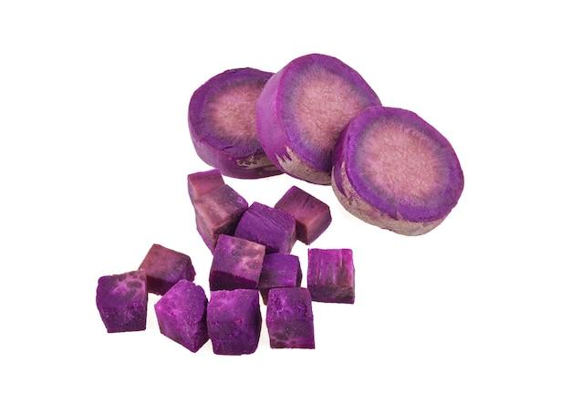 Ignami viola su sfondo bianco isolato