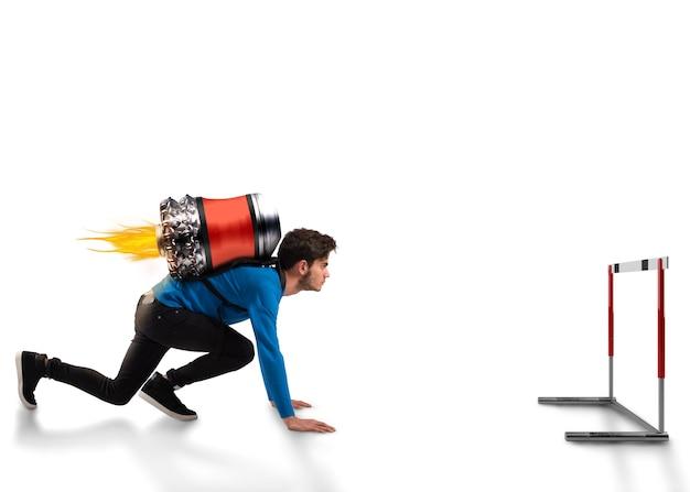 Spingi per superare gli ostacoli