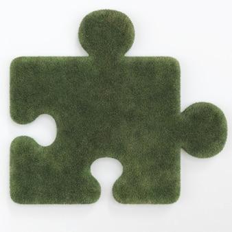 Puzzle sotto forma di erba isolata