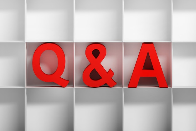 Domande e risposte o lettere frequenti in nicchie quadrate