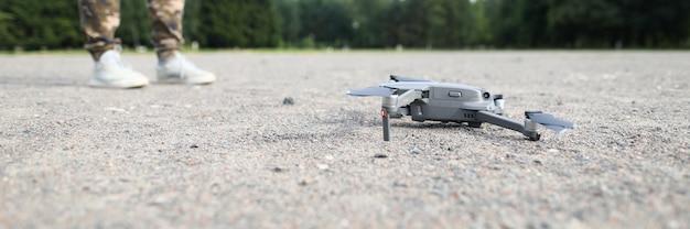 Quadrocopter a terra