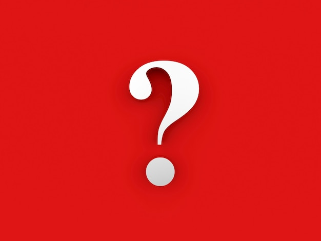 Punto interrogativo 3d
