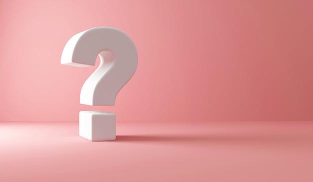 Punto interrogativo sul rosa