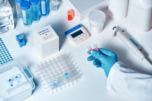 Nuovo kit di test coronavirus covid-19. kit diagnostico pcr ncov 2019.