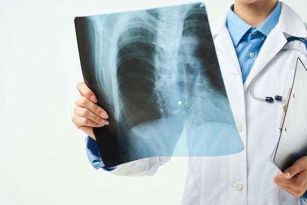 Professionista della diagnostica sanitaria della clinica radiologica