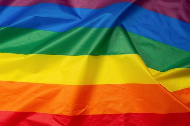 Bandiera arcobaleno come sfondo. vista dall'alto. bandiera lgbt.