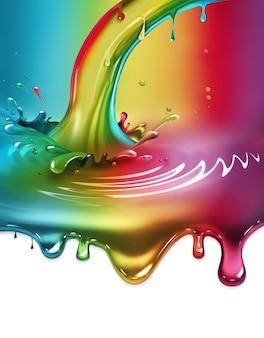 Spruzzi di vernice arcobaleno - concept design