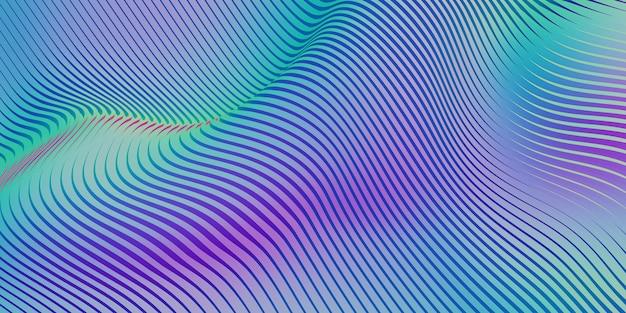 Linee parallele arcobaleno curva di forma distorta tubo di plastica color arcobaleno