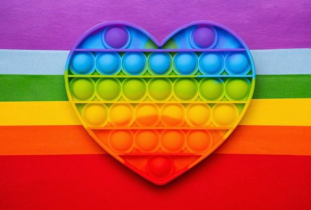 Giocattolo pop-it sensoriale in silicone arcobaleno, nuova tendenza per i bambini