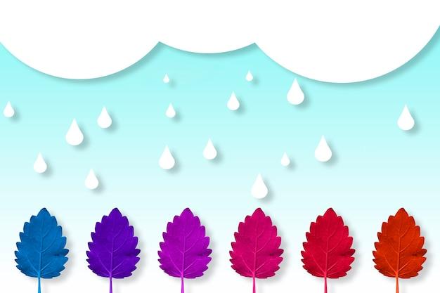 Giornata di pioggia con tutti i colori dell'autunno