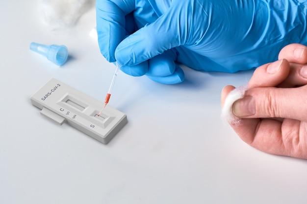 Test rapido covid-19 per la rilevazione di anticorpi specifici