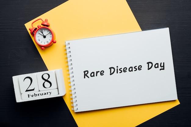 Malattia rara giorno del mese invernale calendario febbraio.