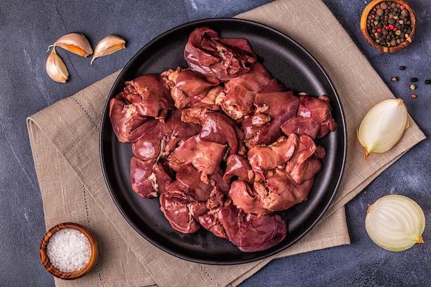 Fegato di pollo crudo