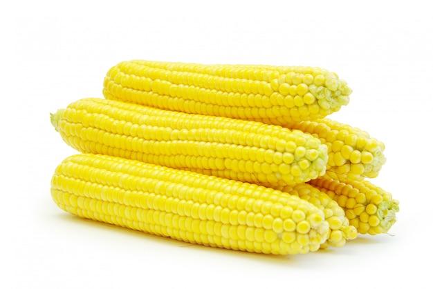 Pannocchie di mais crudo