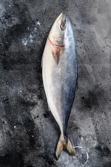 Pesce crudo giapponese dalla coda gialla