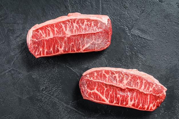 Bistecca con lama superiore di ostriche twagyu di carne biologica cruda