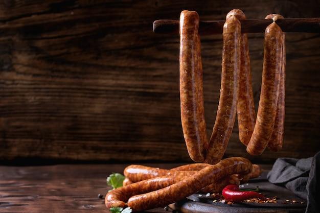 Salsicce crude per barbecue