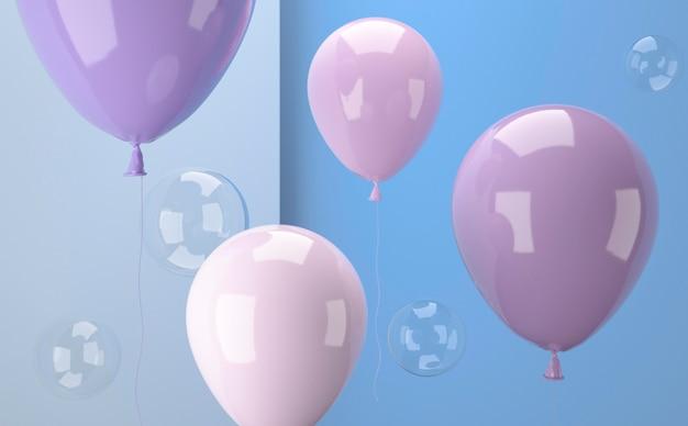 Disposizione realistica di palloncini