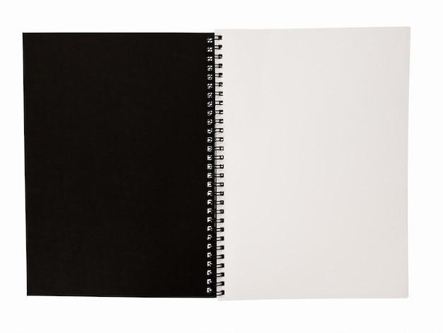 Modello del taccuino vuoto realistico per la copertura di disegno diario della scuola di affari