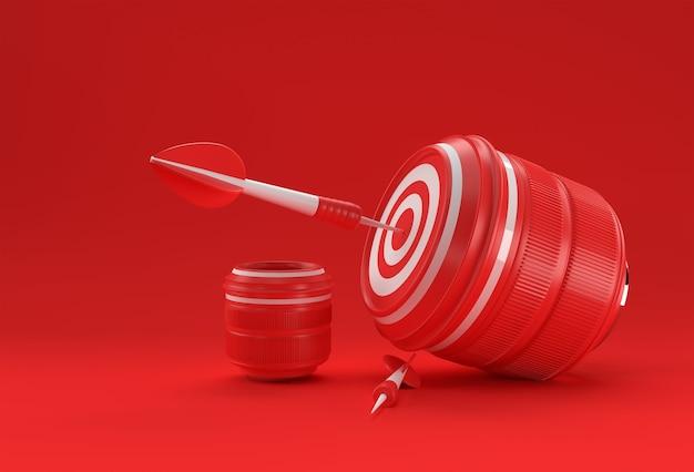 Obiettivo della fotocamera realistico obiettivo per il rendering 3d dello scatto perfetto.