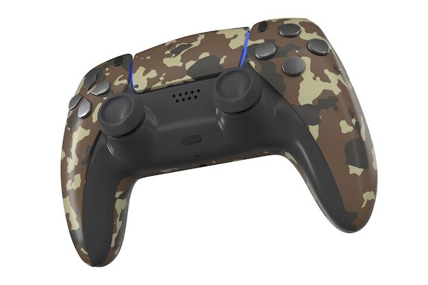 Controller per videogiochi realistico isolato su bianco con tracciato di ritaglio