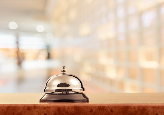 Campanello della reception, vista ravvicinata