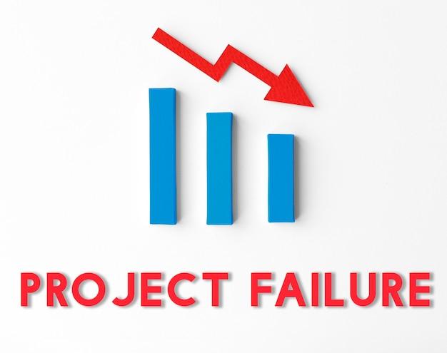 Statistiche di recessione fallimento finanziario concept