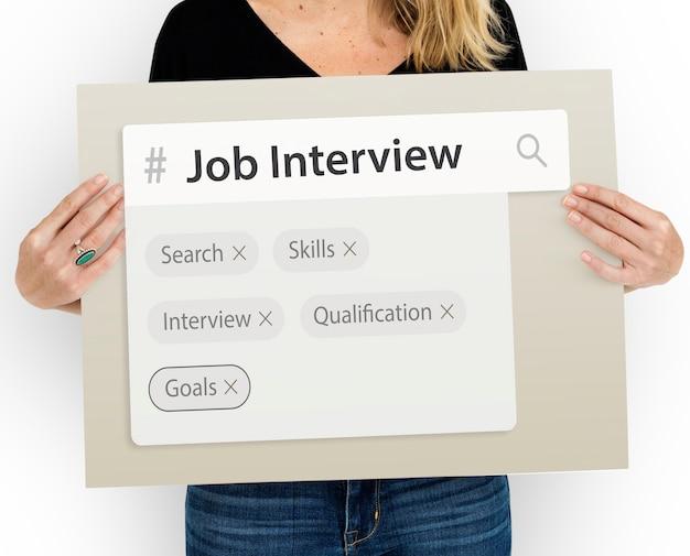 Tag del motore di ricerca di occupazione di reclutamento